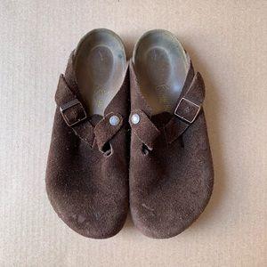 Authentic Birkenstock Boston Suede Leather,38(G16)